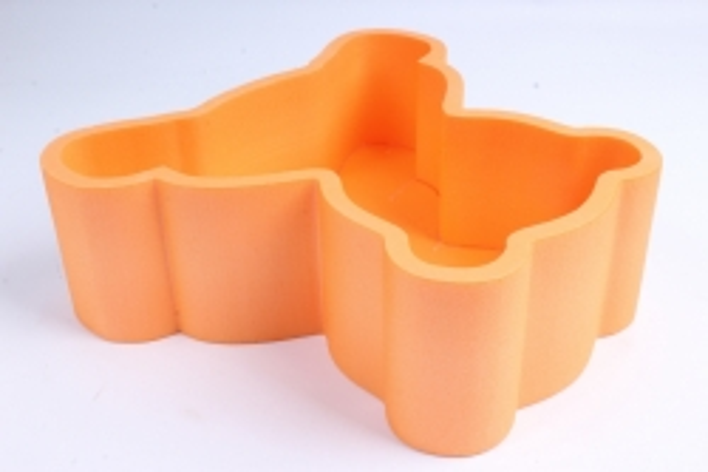 Форма-коробка пенопласт для цветов Мишка (оранжевый)
