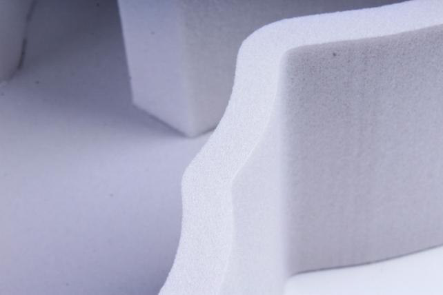 Форма-коробка пенопласт для цветов Зайчик (графитовый)