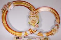 """Фоторамка для свадебной фотосессии """"Обручальные кольца"""" 089.282"""