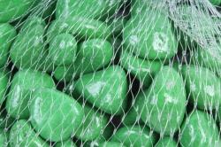 Галька цветная 400гр крупная зеленая (фракция 10-15 мм) 301789040506