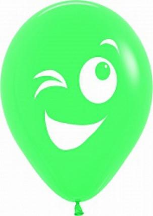 """гелевые воздушные шары (10""""/25см)  смайлики с большими глазами, ассорти, пастель, 1ст, 50шт 107554"""