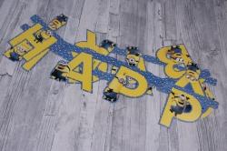 Гирлянда - буквы с ДР, Миньоны (230 см) 28299