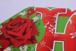 гирлянда - буквы, с юбилеем, розы и блёстки, 200 см, 210828