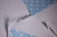гирлянда флажки, голубые точки, 2,8м  6014594