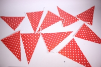 Гирлянда флажки, Белые точки, 2,8м  6014576