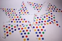 Гирлянда флажки, Разноцветные точки, на ленте, 2,5м  6224670