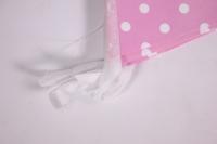 гирлянда флажки, розовые точки, 2,8м  6014585