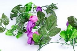 Гирлянда с ранункулюсами фиолетовыми 2,5 м