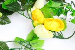 Гирлянда с ранункулюсами жёлтыми 2,5 м