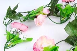 Гирлянда с ранункулюсами розовыми 2,5 м