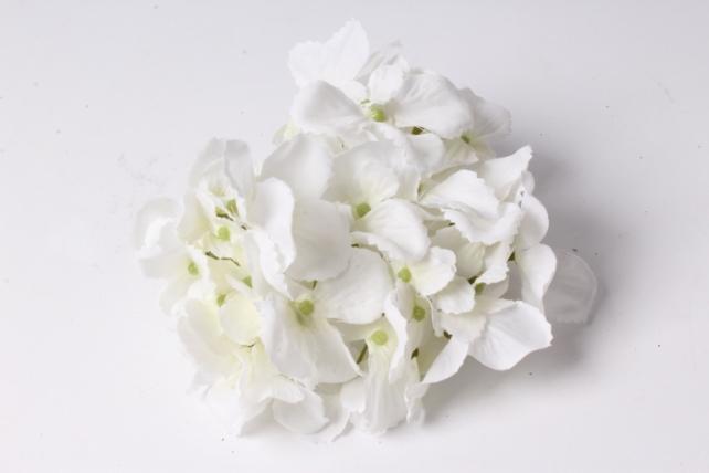 Искусственное растение - Головка Гортензии 15см Белый  LIU280