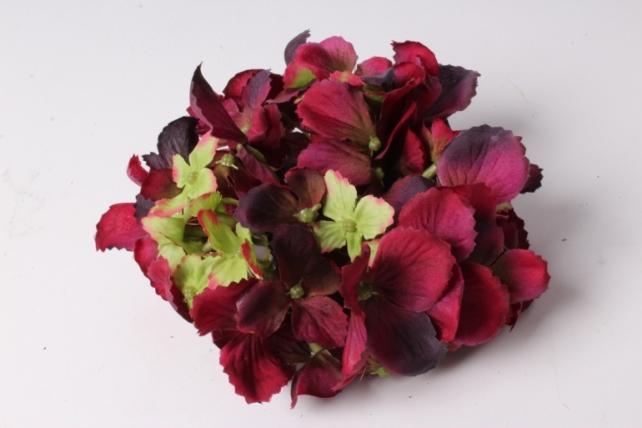 Искусственное растение - Головка Гортензии 15см Бордо  LIU280