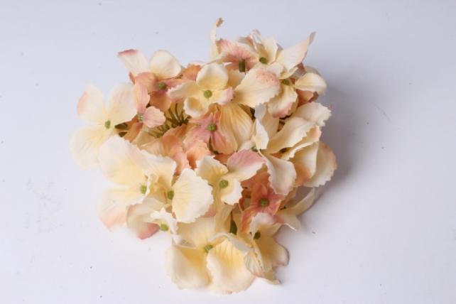Искусственное растение - Головка Гортензии 15см Кремовая  LIU280