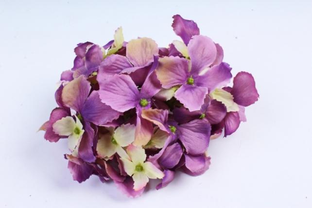 Искусственное растение - Головка Гортензии 15см Лаванда-салатовая  LIU280