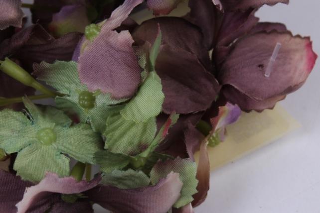 головка гортензии 15см салатово-шоколадная  liu280