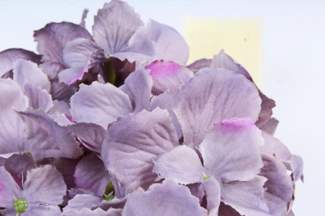 Искусственное растение - Головка Гортензии 15см Серая  LIU280