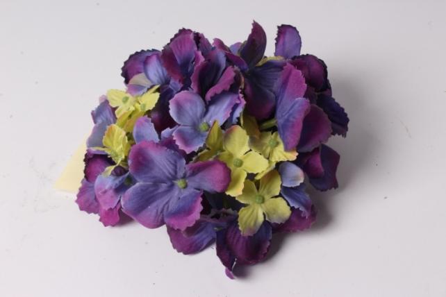 Искусственное растение - Головка Гортензии 15см Сиренево-салатовая  LIU280