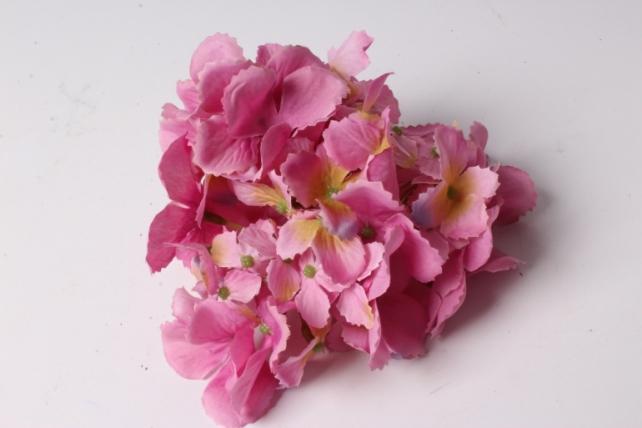 Искусственное растение - Головка Гортензии 15см Темно-Розовая  LIU280