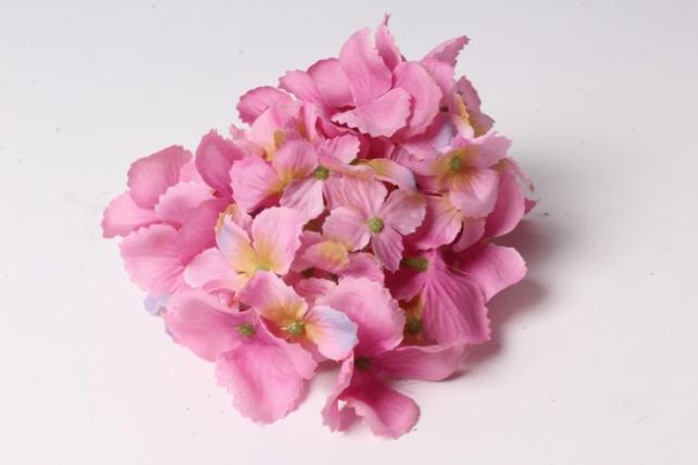 головка гортензии 15см темно-розовая  liu280
