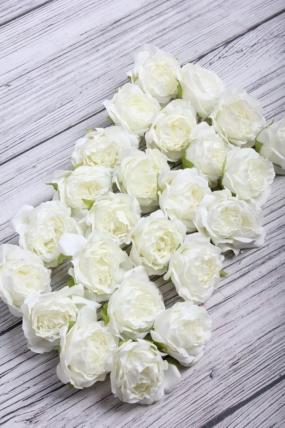Головка Розы 5*6 см белый (24 шт в уп) 9KL8773