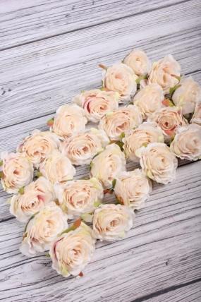 Головка Розы 5*6 см кремовый (24 шт в уп) 9KL8772