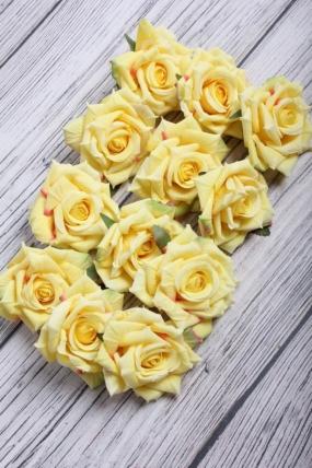 Головка Розы 4*8 см лимонный (12 шт в уп) 8KL690ZOL