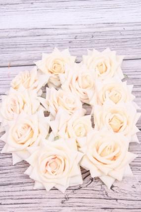 Головка Розы 7 см матовая экрю (12 шт в уп) 20KL0045-2