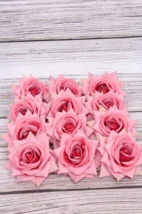 Головка Розы 7 см матовая пыльная роза (12 шт в уп) 20KL0045-6