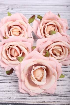 Головка Розы 7*4 см пудровый (5 шт в уп) 9KW7735