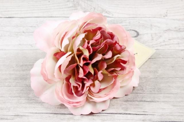 Головка розы  Ретро Бело-розовая 1шт  9KW7728
