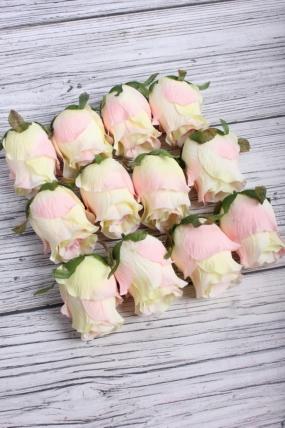 Головка Розы 8*6 см розово-жёлтый (12 шт в уп) 9KL6277-2
