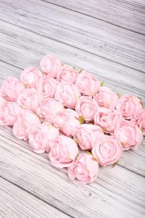Головка Розы 7*7 см светло-розовый (24 шт в уп) 9KL8788