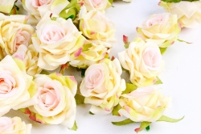 Головка Розы желто-розовые ( в уп. 24 шт)     ART117