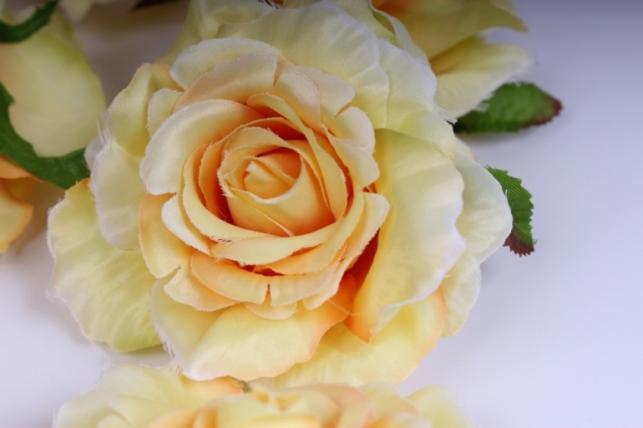 Головка Розы Желтые (в уп. 12 шт) d=9см SUN507