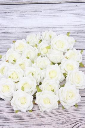 Головка Розы жемчужно-белые ( в уп. 24 шт) №13 d=5см  ART117
