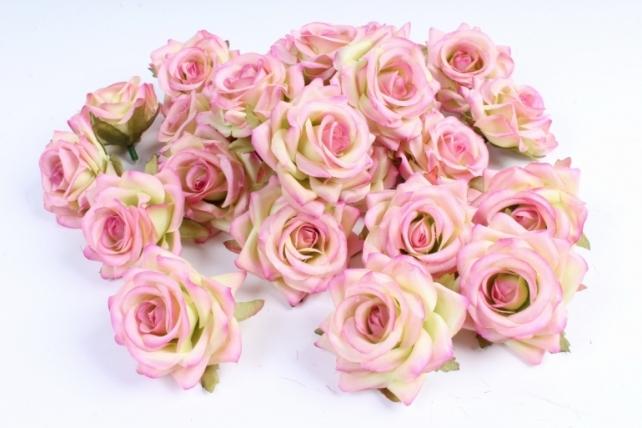 Головка Розы малиново-салатовые ( в уп. 24 шт)    ART117  7143