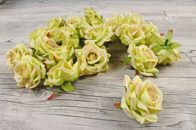 Головка Розы оливковые ( в уп. 24 шт)  d=5см   ART117  №22