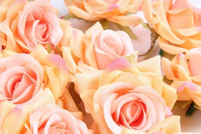 Головка Розы оранжевые ( в уп. 24 шт)     ART117  7143