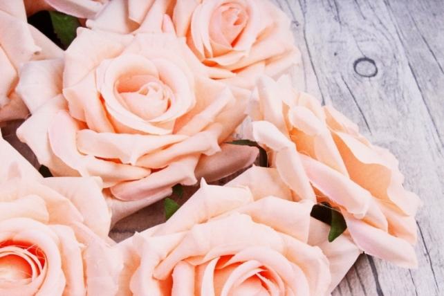 Головка Розы персик  (12шт в уп) 8KL690JLOS
