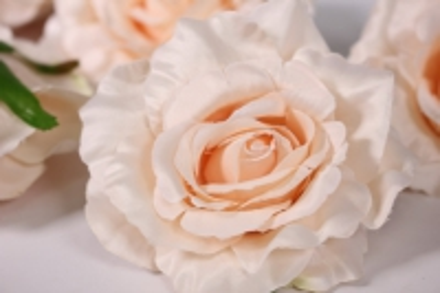 Головка Розы Персик ( в уп. 12 шт) d=9см SUN507