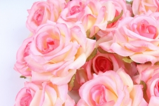 Головка Розы розово-кремовые ( в уп. 24 шт)   ART117  7143