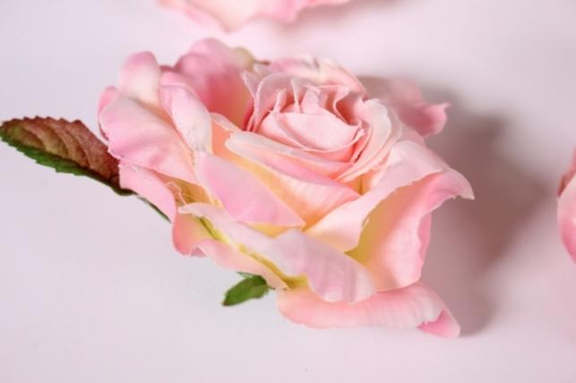 головка розы розовоые ( в уп. 12 шт) d=9см sun507