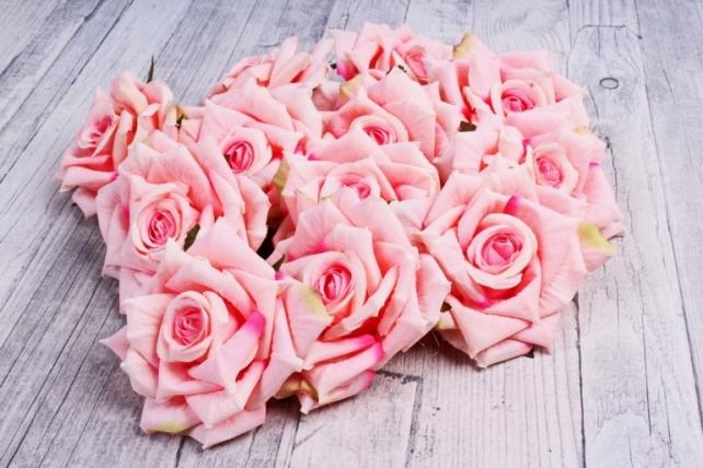 Головка Розы розовый  (12шт в уп) 8KL690ROZ