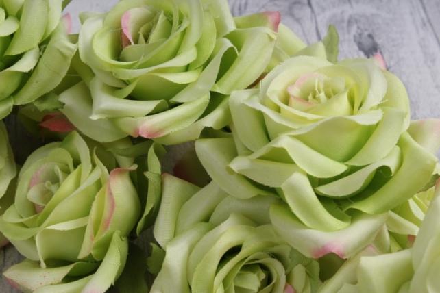 головка розы салатовые ( в уп. 24 шт)     art117