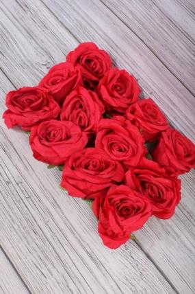 Головка Розы 7*8  см алый (12 шт в уп) 9KL6213