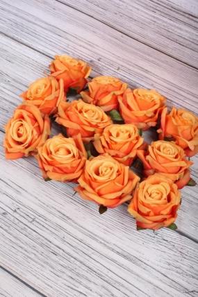 Головка Розы 7*8  см оранжевый (12 шт в уп) 8KL739POM