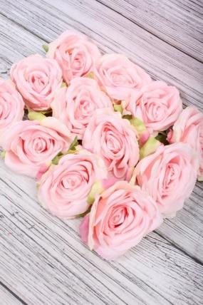 Головка Розы 7*8  см персиково-розовый (12 шт в уп) 9KL6211
