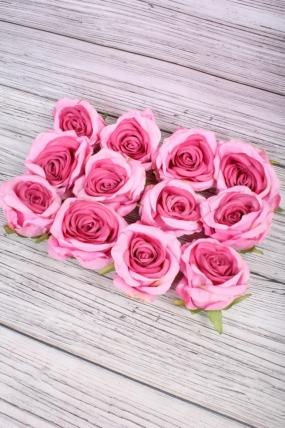 Головка Розы 7*8  см розово-малиновый (12 шт в уп) 9KL6212