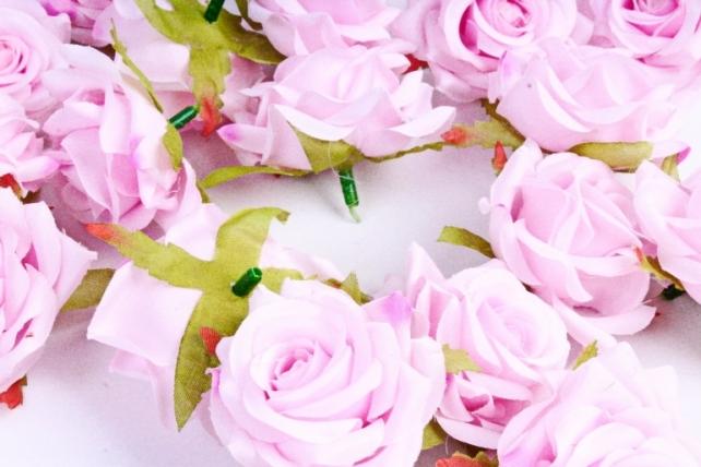 Головка Розы стренево-розовые ( в уп. 24 шт)     ART117