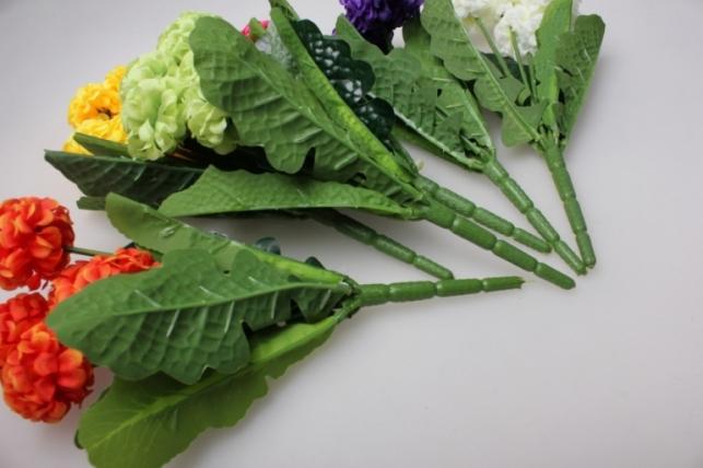 гортензия мини букет, цвета ассортименте 30см - искусственные растения